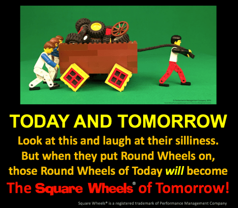 Round Wheels of today become Square Wheels of tomorrow