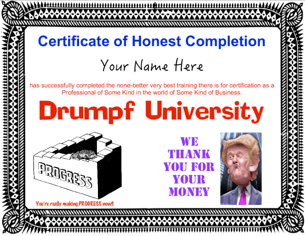 drumpf-trump-university-certificate