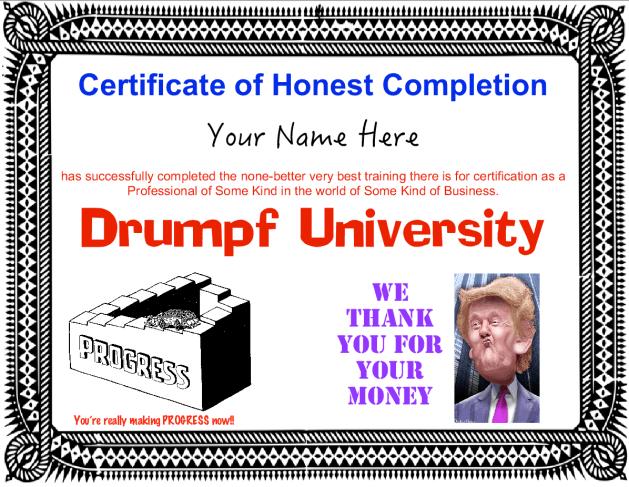 drumpf-trump-university-certificate
