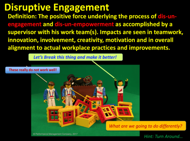 Disruptive engagement supervisors and motivation