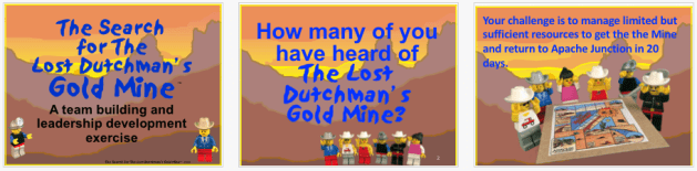Slides from The Search for The Lost Dutchman's Gold Mine 2018 Introduction