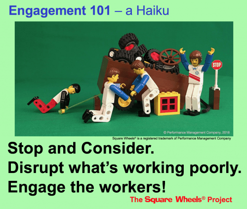 haiku on performance improvement and engagement