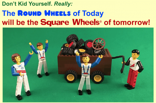 Square Wheels metaphor about performance improvement