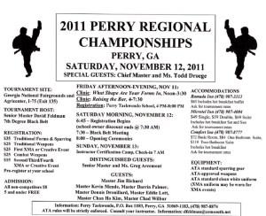ATA Regional Tournament Flyer - Perry 2011