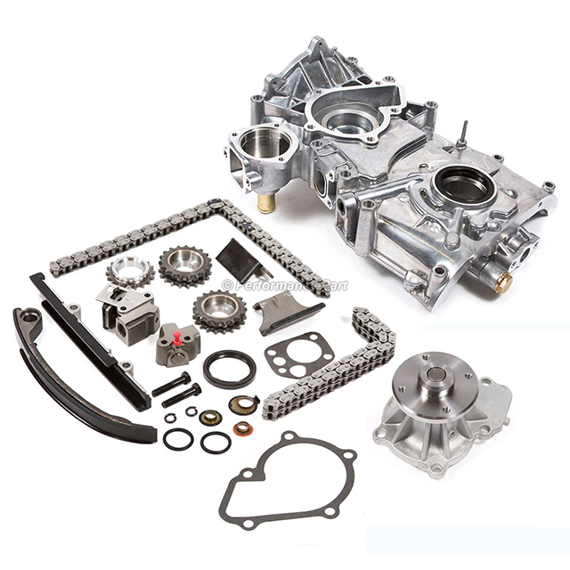 Timing Chain Kit w/o Idler Gear Water Oil Pump for 91-98