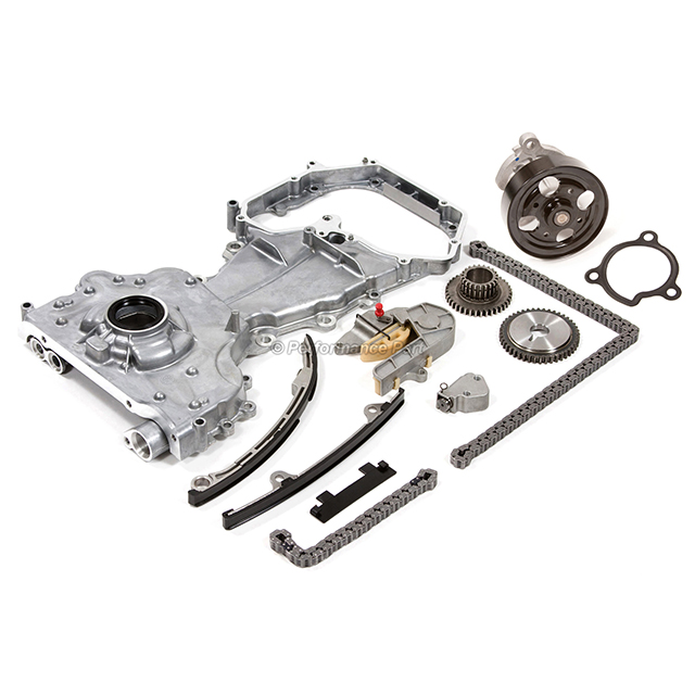 Timing Chain Kit Cover Water Oil Pump for 02-06 Nissan