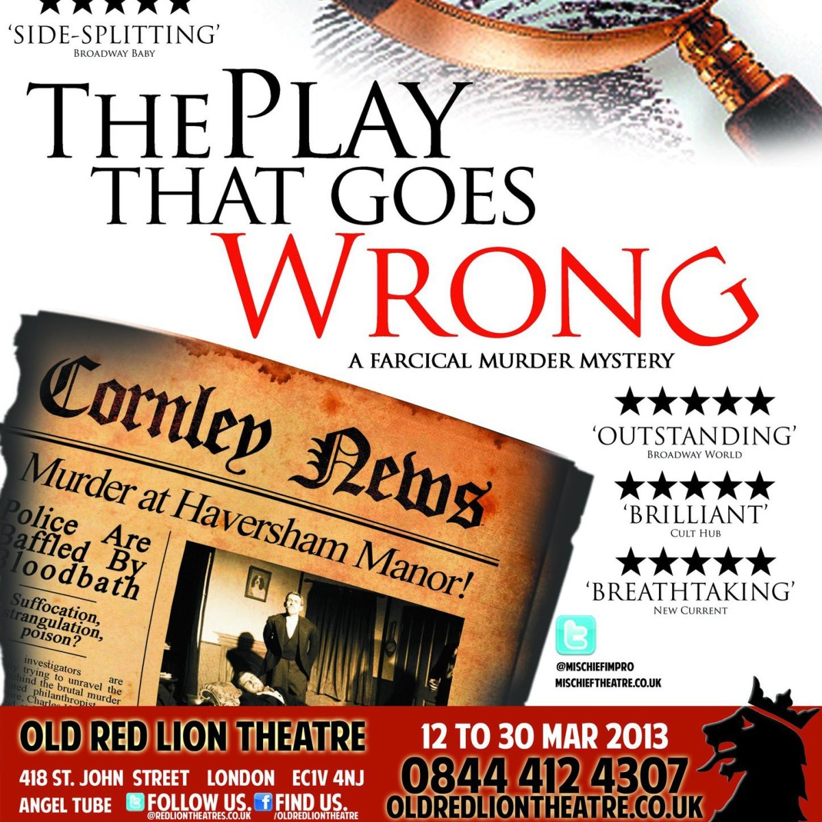 The Play That Goes Wrong at the Old Red Lion
