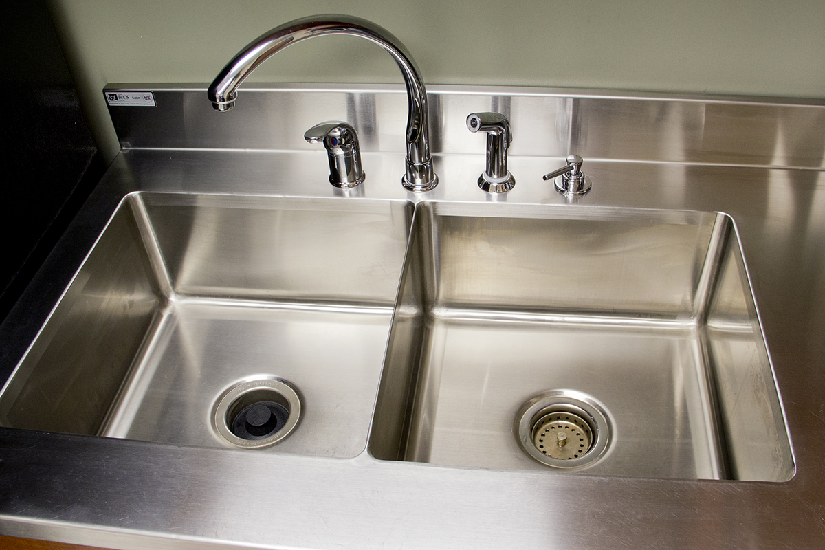 John Boos Stainless Steel Countertop With Integrated Sink