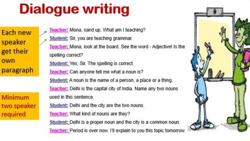 small resolution of Dialogue Writing Exercises For Class 9 - Exercise Poster