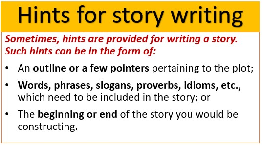 Hints for story writing