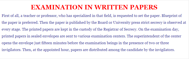 Process Writing on Examination in Writing Paper 150-200 Words