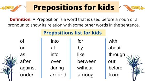 Prepositions for kids