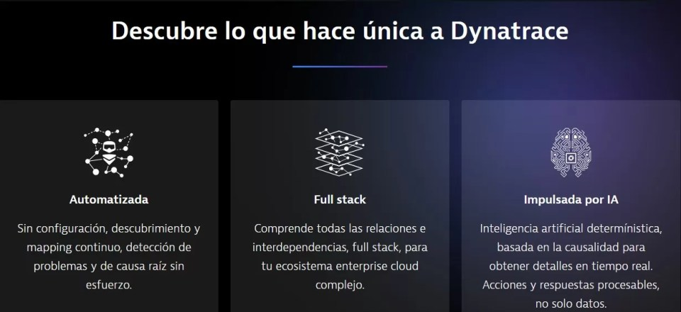 Software intelligence for the enterprise cloud – Dynatrace