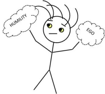 ego v humility