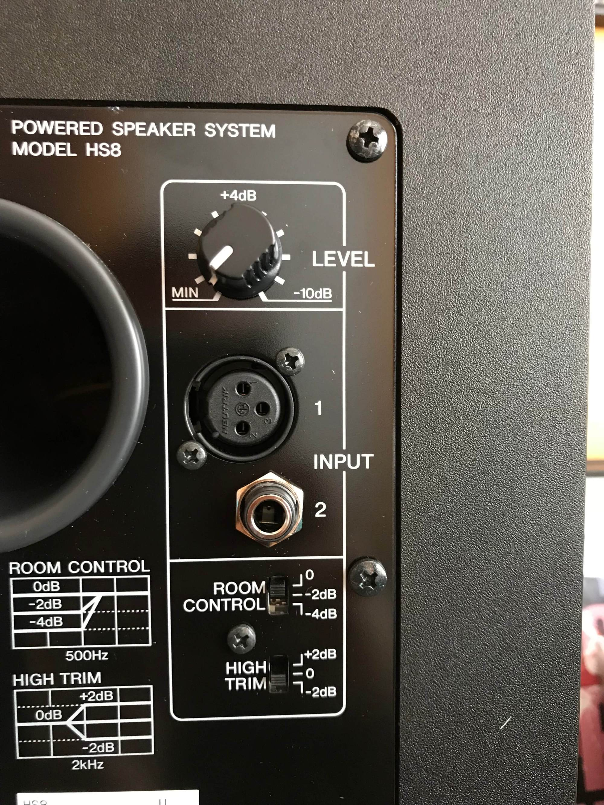 hight resolution of yamaha hs8 monitor speakers rear