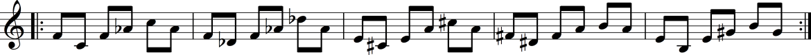 Example 3a. Knee Play 2, line 3, from Einstein on the Beach (1976)