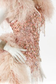 Costume worn by Kylie Minogue in Kylie Showgirl: Homecoming Tour, 2006. Designed by John Galliano. Gift of Kylie Minogue, 2008. Arts Centre Melbourne, Performing Arts Collection. Photograph by Jeremy Dillon.
