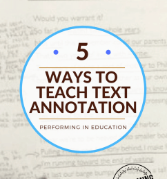 Annotate the Text: 5 Concrete ideas for teaching text annotation -  Performing in Education [ 1200 x 800 Pixel ]