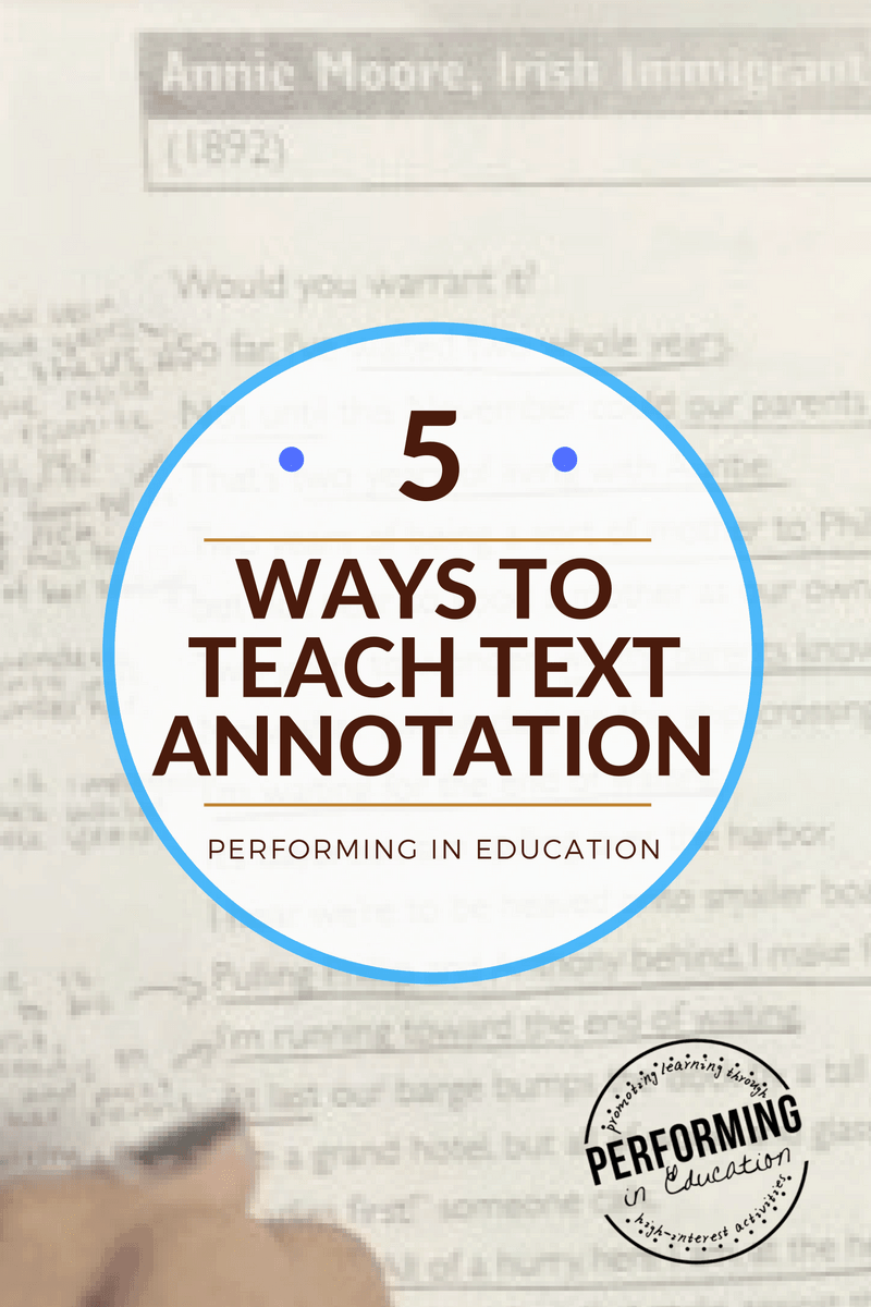 medium resolution of Annotate the Text: 5 Concrete ideas for teaching text annotation -  Performing in Education