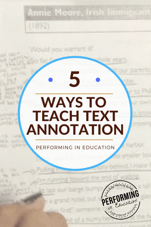 small resolution of Annotate the Text: 5 Concrete ideas for teaching text annotation -  Performing in Education