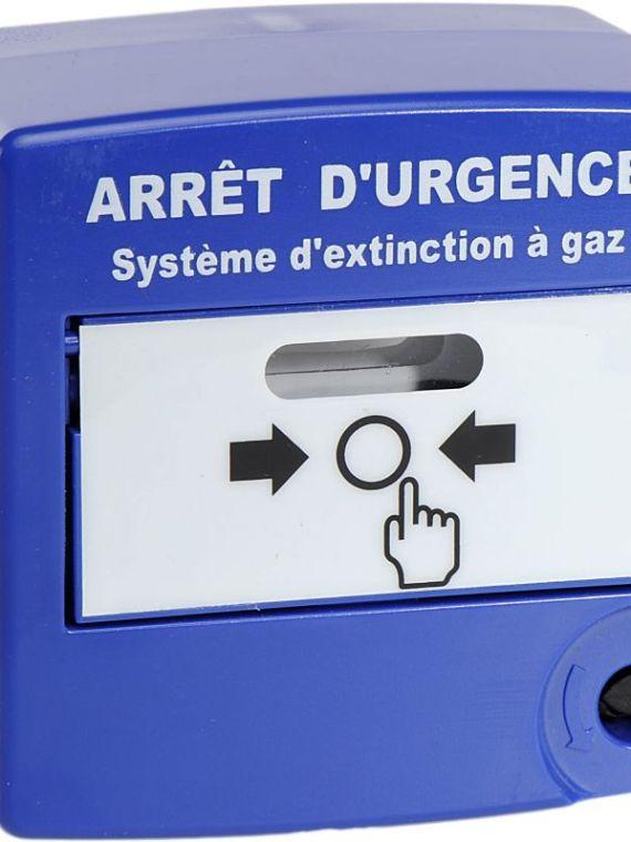 Déclencheur-Manuel-Double-Action-Bleu-POUR-ARRÊT-D'URGENCE
