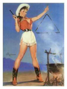 0000-8499-4~Cowgirl-Barbeque-Pin-Up-Girl-Posters