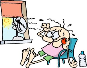 dog days sticky heat wave