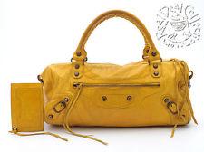yellow balenciaga bag