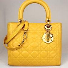 yellow dior bag