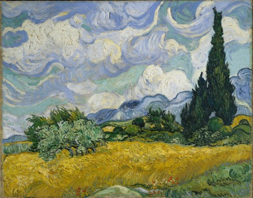 Bloody Rose Dear Rose Wheat-Field-with-Cypresses-(1889)-Vincent-van-Gogh Wikipedia
