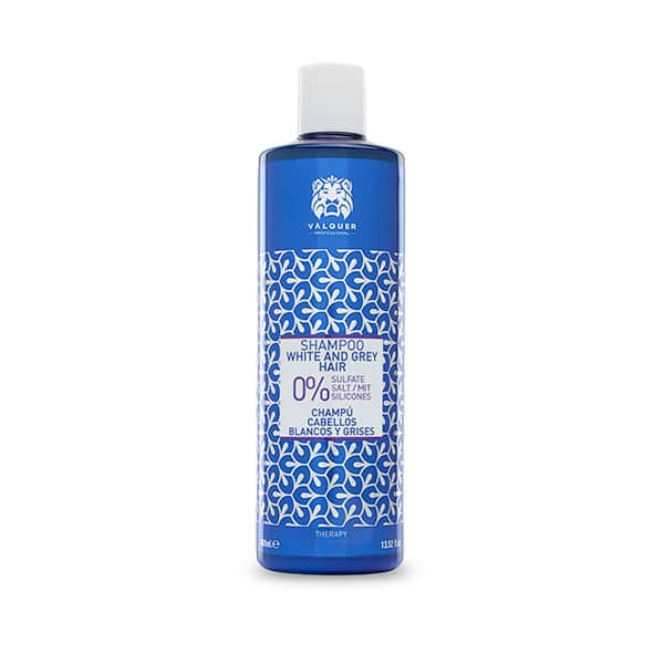 Valquer Champú Zero % para cabellos blancos y grises - 400 ml.