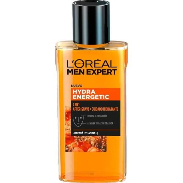 L'Oréal Men Expert Hydra Energetic 2 en 1 Aftershave + Cuidado Hidratante para hombres 125ml