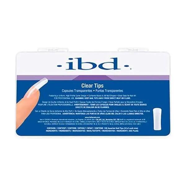 IBD CLEAR TIPS - TIPS DE UÑAS TRANSPARENTES 100 UNID.