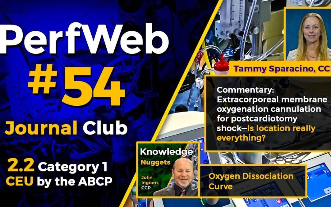 PerfWeb #54 Extracorporeal Membrane Oxygenation Cannulation for Postcardiotomy Shock