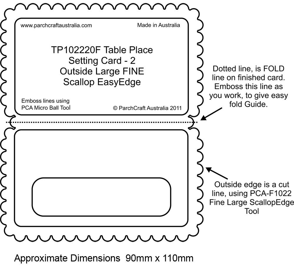 hight resolution of pca easyembossing fine table place setting card 2 tp102220f