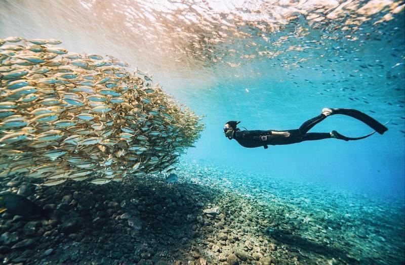 Daya tarik utama Wisata Tulamben Bali adalah pemandangan bawah airnnya by IG @lwchuck