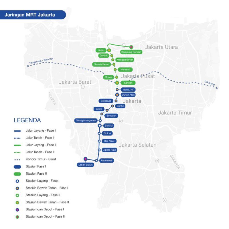 Peta Jalur MRT Jakarta Map Terbaru!