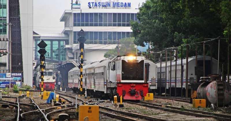 Ini adalah beberapa kereta api yang berangkat dari Stasiun Medan.