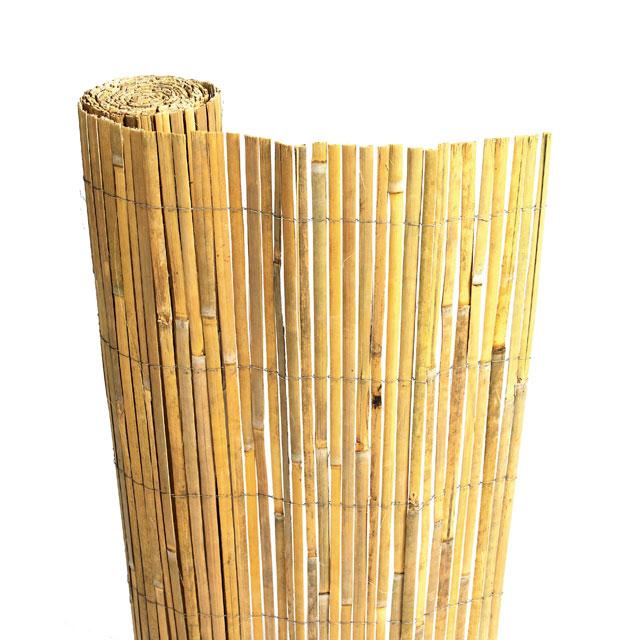 Rouleau de canisse en bambou fendu