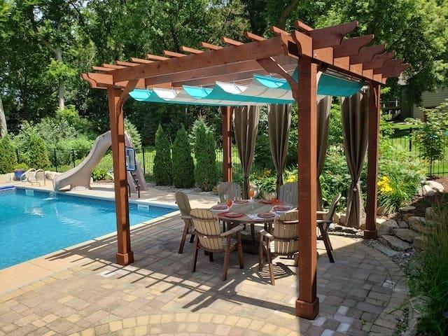 pergola canopy kit buy diy retractable pergola canopy kits for attached pergolas at pergoladepot com