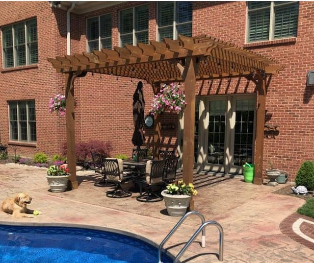 best pergola covers for shade patio