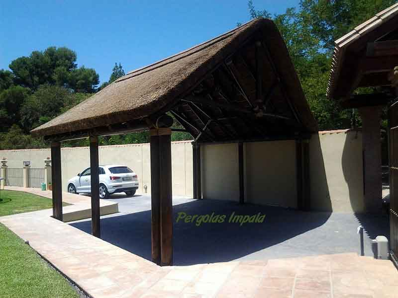 Pergolas Impala thatched car-port