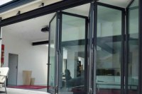 Accordion Glass Door  Pergola Technical