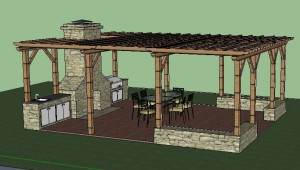covered outdoor kitchen butterfly undermount sinks pergola pergolas and awnings an built under a