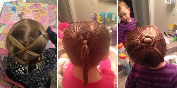 perierga.gr - Μπαμπάς πήγε σε σχολή για να φτιάχνει τα μαλλιά της κόρης του!