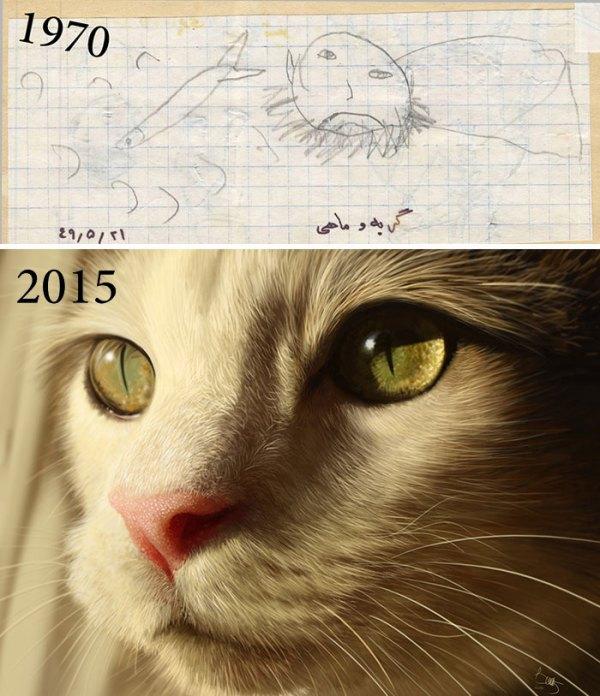 perierga.gr - Η απίστευτη καλλιτεχνική εξέλιξη των ζωγράφων στα χρόνια...