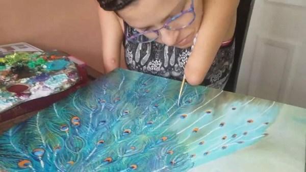 perierga.gr - Όταν η επιθυμία να ζωγραφίσεις είναι μεγαλύτερη από την αδυναμία...