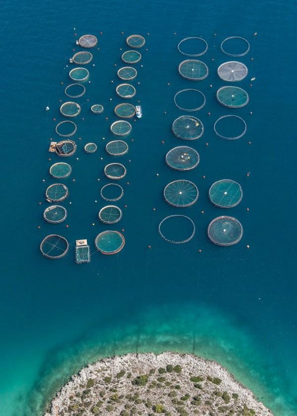 perierga.gr - Πανέμορφες αεροφωτογραφίες από ιχθυοκαλλιέργειες