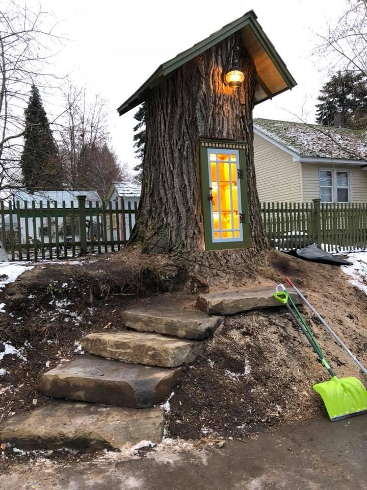 Perierga.gr - Κορμός δέντρου 110 ετών έγινε βιβλιοθήκη!