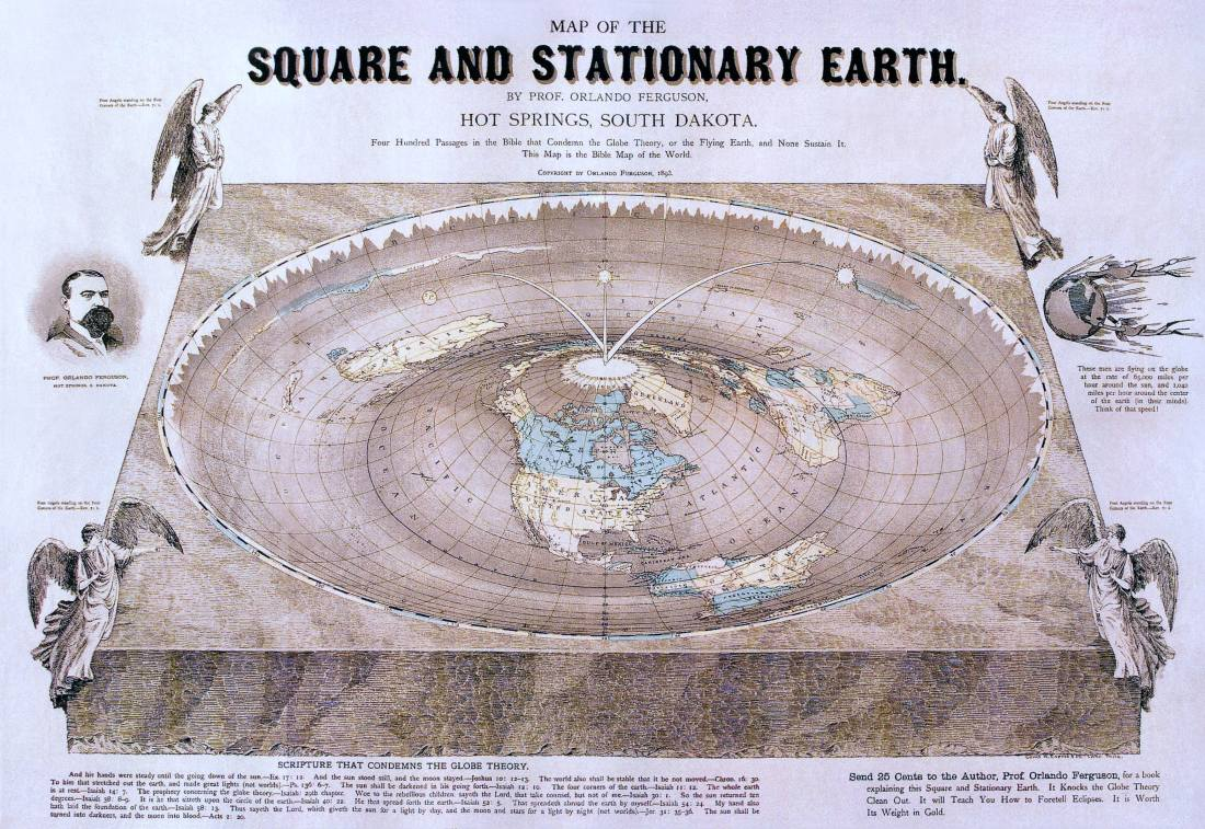 Flat-Earth-Movement-Earther-Conspiracies-Frauds-Fakes-Pseudoscience-Samuel-Birley-Rowbotham-Belief-Bible-Interpretations-Naturalism-Science-Zetetic-Astronomy-Old-Belford-Level-Experiment-Samuel-Shenton-Religion-International-Zetetic-Society-Charles-Kenneth-Johnson-Religion-Maps-Disc-Plane-Ice-Wall-North-Pole-Moon-Sun-Rotation-Seasons-Orlando-fergusson